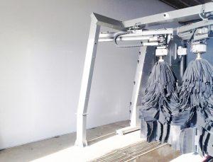 Carwash wanden en plafonds