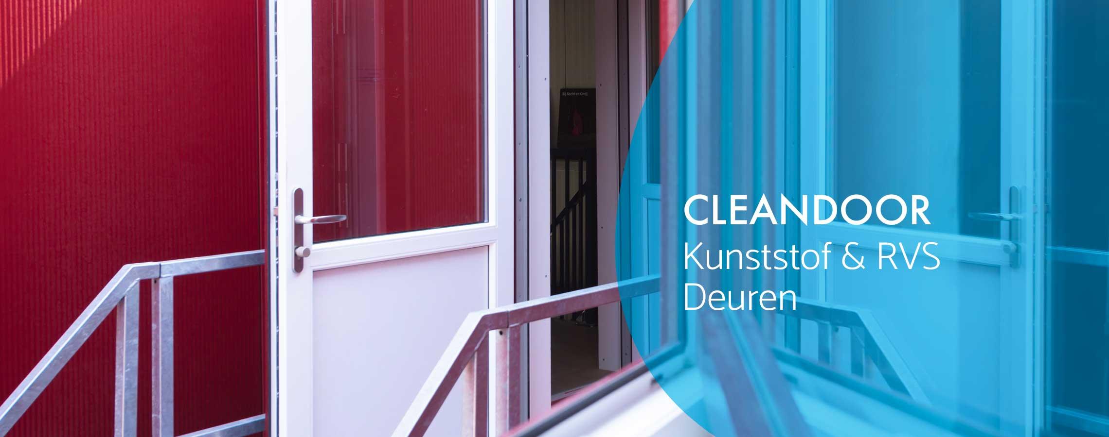 Cleandoor kunststof en rvs deuren