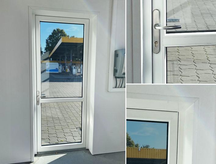 kunststof deur met glas